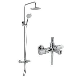 科勒KOHLER 淋浴花洒套装 齐悦三出水淋浴柱 花洒龙头K-99742T-C9-CP