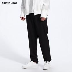 TRENDIANO羊毛呢纯色休闲九分裤3JI1062300