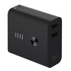 ZMI 紫米 5200电量充电宝+充电器 二合一 双口快充 APB01A 黑