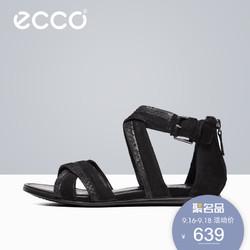 ECCO 爱步 266053 2016春夏新款平跟露趾凉鞋 简约休闲时装凉鞋