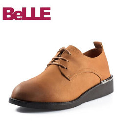 Belle 百丽 BAS22AM8 2018春新品专柜同款英伦风珠光磨砂牛皮女单鞋