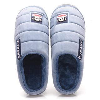 大嘴猴 Paul Frank PF-72607 情侣居家棉拖鞋 简约舒适毛绒保暖棉拖鞋男款