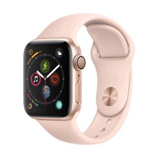 Apple 苹果 Apple Watch Series 4 智能手表 (金色铝金属、GPS、40mm、粉砂色运动表带)