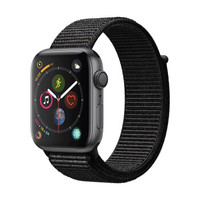 Apple 苹果 Apple Watch Series 4 智能手表 (深空灰铝金属、GPS、44mm、黑色回环表带)
