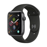 Apple 苹果 Apple Watch Series 4 智能手表(深空灰铝金属、GPS、44mm、黑色运动表带)