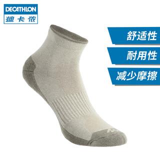 DECATHLON 迪卡侬 QUSK 111218 中性款运动袜 (27-29、蓝灰)