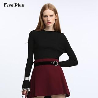 秋季焕新 : Five Plus 2GE1KW1D06 女士条纹修身薄款针织衫