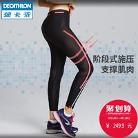 DECATHLON 迪卡侬 RUNV 女士压缩长裤 (50-60KG/
