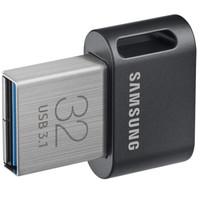 三星(SAMSUNG)FIT升级版+ 32GB USB 3.1 Gen 1 闪存盘 传输速度200MB/s 高速车载U盘 黑色迷你