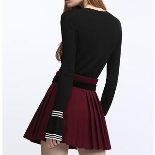 Five Plus 2GE1KW1D06 女士条纹修身薄款针织衫  (米白、M)