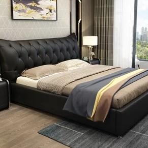忆斧至家 真皮靠包床 单床 1.8米  *2件