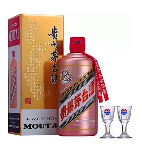 MOUTAI 茅台 玫瑰金色瓶装 白酒 43度 500ml