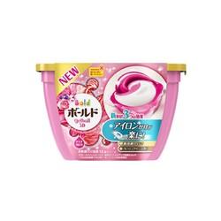 宝洁(Procter&Gamble) 日本原装 碧浪3D洗衣凝珠洗衣液球粉色花果香18粒0.356kg *3件