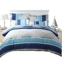 MERCURY 水星家纺 蓝语迷情 全棉斜纹印花四件套 1.8米床