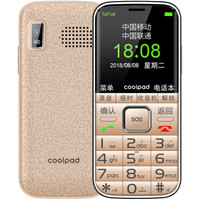 Coolpad 酷派 S628 老人手机 (移动/联通2G、金色)