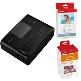 Canon 佳能 SELPHY CP1300 小猪佩奇联名款 照片打印机套装