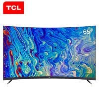 TCL 65T3S 65英寸 4K 曲面 液晶电视