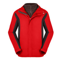 HIGHROCK 天石 N606011 中性款三合一冲锋衣 (XXL、中国红/深灰色)