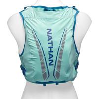 NATHAN 马拉松越野跑双肩背包透气跑步女式轻量户外运动跑步水袋背包 12L 光芒蓝 XS (XS、光芒蓝)