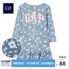 Gap女婴幼童 Logo徽标纯棉花朵图案长袖连衣裙356758 秋装新款 *2件 168.3元(合84.15元/件)
