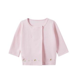 全棉时代婴儿针织提花外套 73/48 粉 1件装