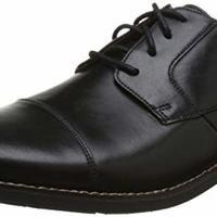 Clarks 26123139 男士休闲皮鞋 (黑、41)