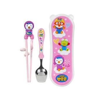 Pororo 婴幼儿勺子筷子套装 (套装、粉色)
