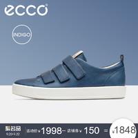 ecco 爱步 SOFT8 18SS440514 男士休闲鞋 (牛仔蓝、41)