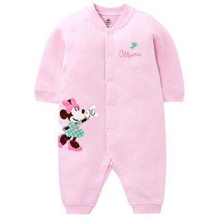 Disney baby DA642GA18P01 婴儿长袖哈衣 (80码、浅粉 )