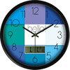 摩门(momen)挂钟 创意LCD多功能钟时尚客厅现代时钟个性卧室壁钟挂表石英钟LCD17 99元