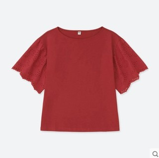 UNIQLO 优衣库 408680 女士蕾丝T恤 (白色、M)