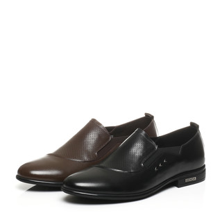 Senda 森达 1SJ01BA7 男士商务正装皮鞋 (黑色、39)