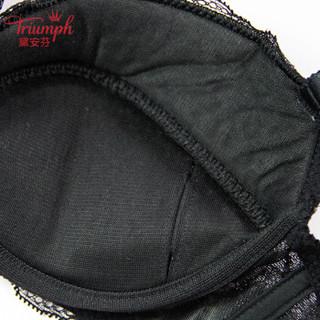 黛安芬(Triumph)日本文胸梦幻蕾丝系列舒适女性蕾丝胸罩10175034 黑色 80C
