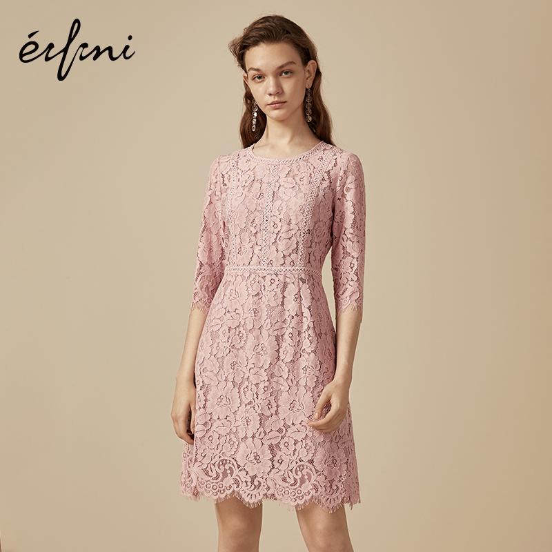 Eifini 伊芙丽 1180793392671 女士连衣裙 (M、粉色)