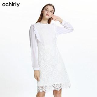 ochirly 欧时力 1GZ3088990 女士连衣裙 (M、黑色)