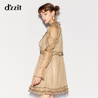 d'zzit 3F3O6317Y 女士连衣裙 (S、紫色)
