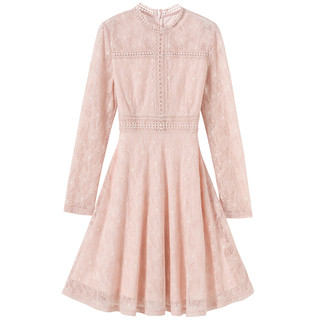 3COLOUR 三彩 D842110L00 女式连衣裙 (XXL、粉色)