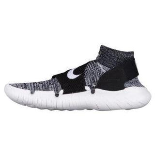 耐克(Nike)男子 Free RN Motion Flyknit 2018 跑步休闲运动鞋 Black/White 标准46/US12 (黑白灰、46)