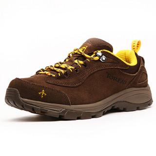 探路者(TOREAD)徒步鞋 男女士防滑耐磨登山鞋 秋冬季防泼水户外鞋 TFAA92055 野牛棕/棕黄(女)39码