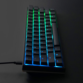 Akko 艾酷 Ducky One 2 Mini RGB 机械键盘 (Cherry 红轴、奥利奥、RGB灯光、Type-C、61键)