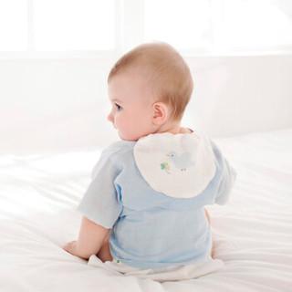 PurCotton 全棉时代 婴儿纱布汗巾小猫扑蝴蝶+小鹿和蝴蝶+小鸟和四叶草 3条装