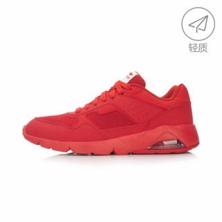 李宁官方旗舰店Bubble Ace男子跑步鞋半掌气垫复古经典运动鞋ARCL039 朱砂红 45