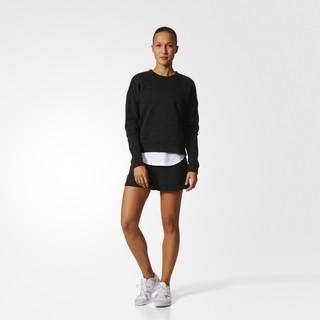 adidas 阿迪达斯 运动型格 女子 针织套头衫 黑 B47322 (L、黑色)