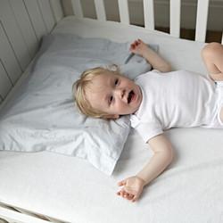 FOSSFLAKES 婴儿枕套 丹麦进口 全棉 婴儿/儿童枕套 单只装40*45cm 浅蓝色 *2件
