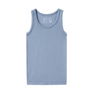 PurCotton 全棉时代 2000219102 男中童针织罗纹无侧缝背心 110/60(建议4-5岁) 蓝色