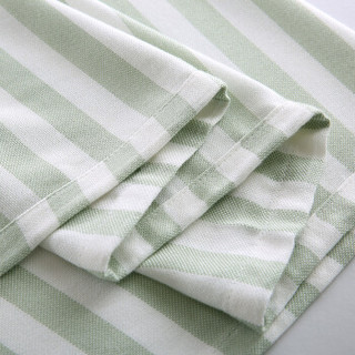AUSTTBABY 婴儿盖毯 竹纤维条纹毯子新生儿用品宝宝抱毯 条纹绿