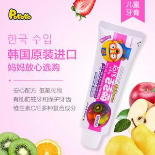 Pororo 儿童牙膏 (90g、3-12岁、水果混合味)