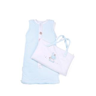 PurCotton 全棉时代 800-000595 婴幼儿针织长袍睡袋 110*49cm(建议1-4岁)小兔印花