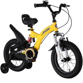 优贝(RoyalBaby)儿童自行车 单车男女小孩童车 避震型宝宝脚踏车山地车3岁-9岁 小飞熊16寸 黄色