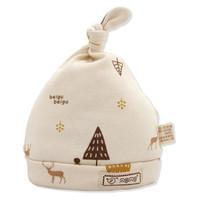 贝谷贝谷 婴儿帽子纯棉新生儿胎帽四季 S码 头围34cm (适用于0-3月宝宝) 两条装
